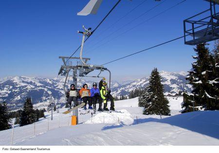 Lyžařská oblast Gstaad a okolí - fotografie