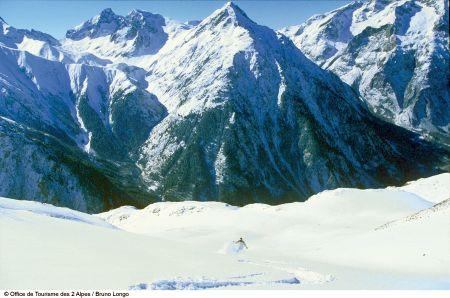 Lyžařská oblast Les Deux Alpes - fotografie