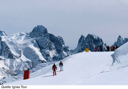 Lyžařská oblast Val di Fiemme / Obereggen - fotografie