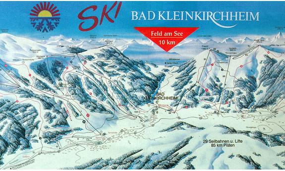 Náhled skimapy areálu Bad Kleinkirchheim - St. Oswald