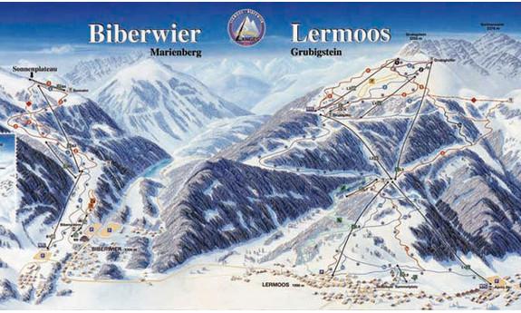 Náhled skimapy areálu Biberwier - Marienberg