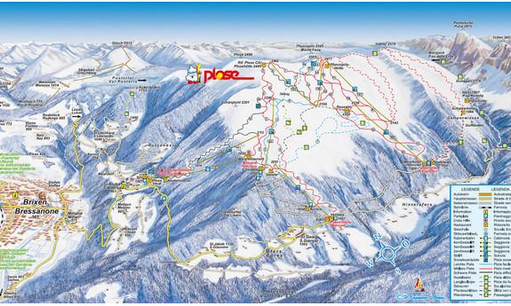 Náhled skimapy areálu Brixen / Plose