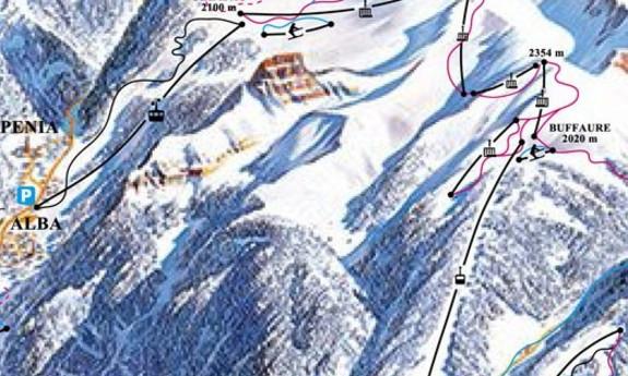 Náhled skimapy areálu Buffaure - Ciampac