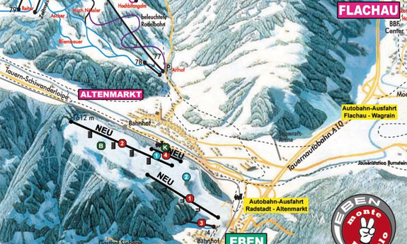 Náhled skimapy areálu Eben / Monte Popolo