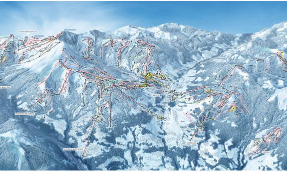 Náhled skimapy areálu Evasion Mont Blanc