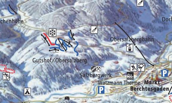 Náhled skimapy areálu Gutshof Obersalzberg