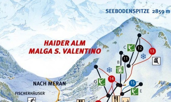 Náhled skimapy areálu Haider Alm