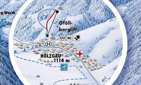 Náhled skimapy areálu Holzgau