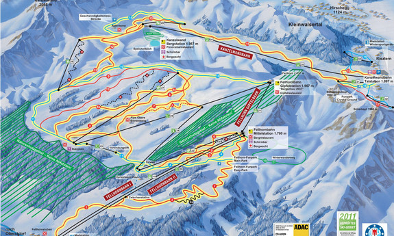 Náhled skimapy areálu Kanzelwandbahn - Fellhorn