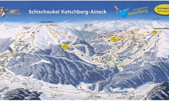 Náhled skimapy areálu Katschberg - Aineck