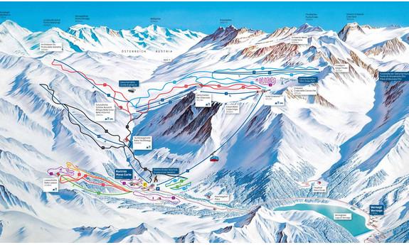 Náhled skimapy areálu Ledovec Schnalstal