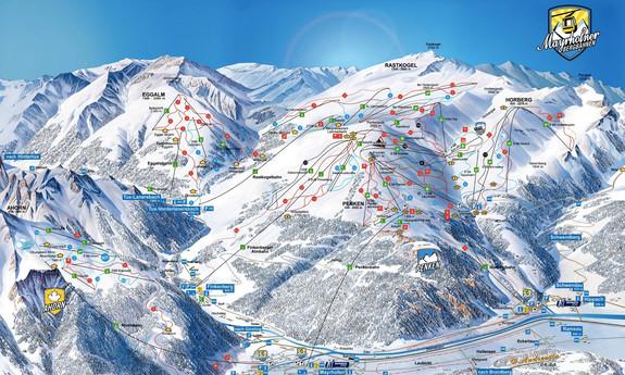 Náhled skimapy areálu Mayrhofen (Ahorn a Penken)