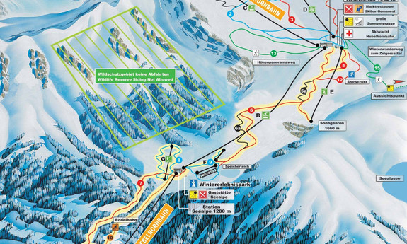 Náhled skimapy areálu Nebelhorn