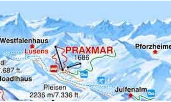 Náhled skimapy areálu Praxmar