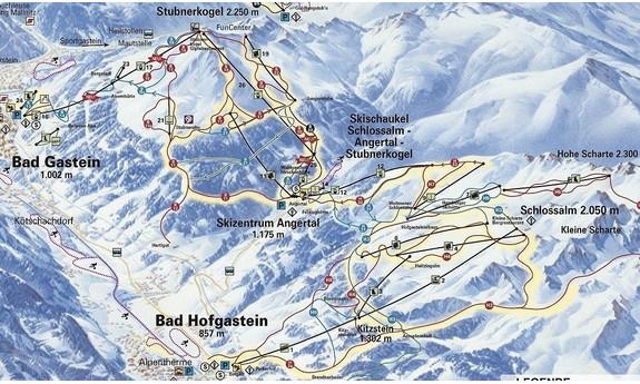 Náhled skimapy areálu Schlossalm - Angertal - Stubnerkogel