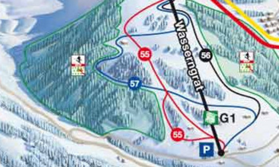 Náhled skimapy areálu Gstaad Wasserngrat