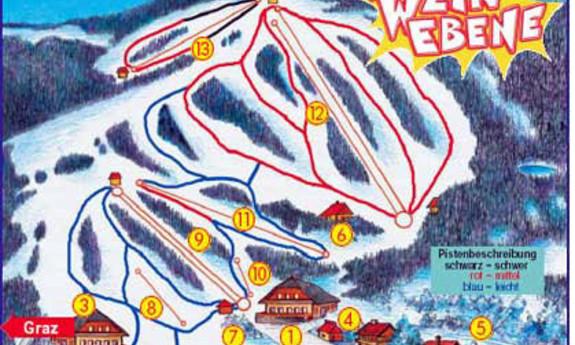 Náhled skimapy areálu Weinebene