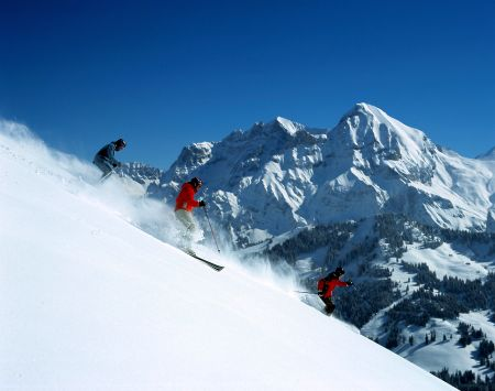 Lyžařské středisko Adelboden - fotografie