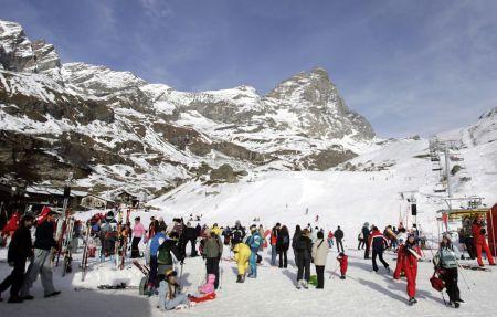 Lyžařské středisko Cervinia - fotografie