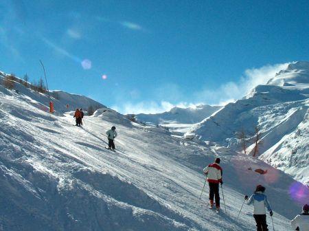 Lyžařské středisko Saas Almagell - fotografie