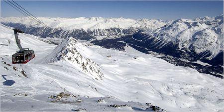 Lyžařské středisko St. Moritz - fotografie
