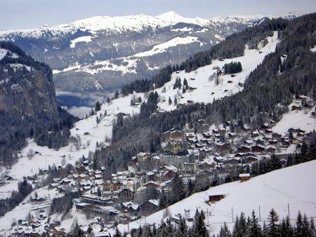 Lyžařské středisko Wengen - fotografie
